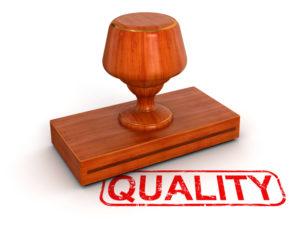 Quality stamp symbolizing high-quality, pure essential oils